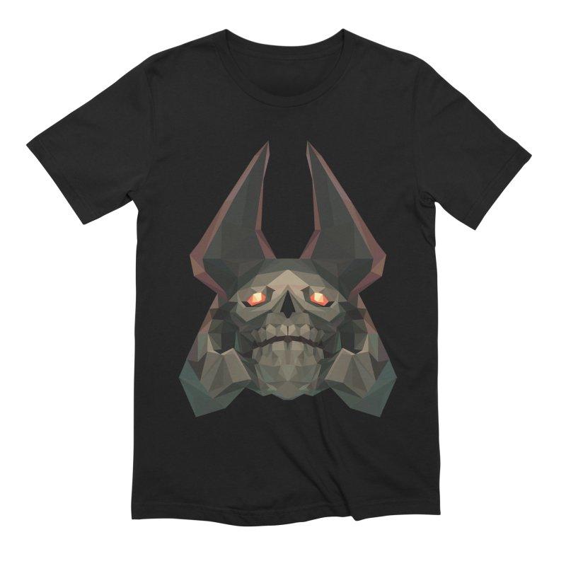 Low Poly Art - Skeleton King in Men's Extra Soft T-Shirt Black by lowpolyart's Artist Shop