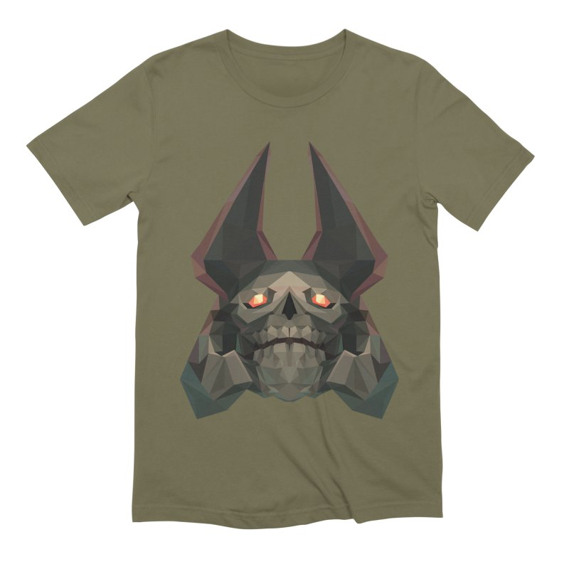 Low Poly Art - Skeleton King Men's Extra Soft T-Shirt by lowpolyart's Artist Shop