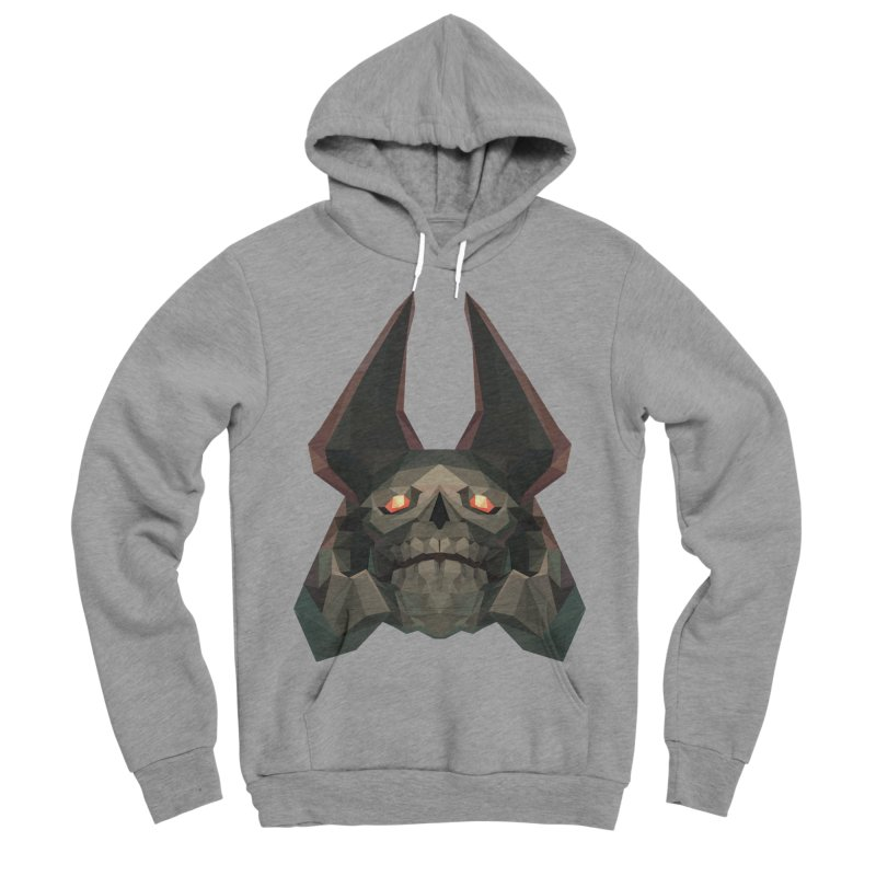 Low Poly Art - Skeleton King Women's Sponge Fleece Pullover Hoody by lowpolyart's Artist Shop