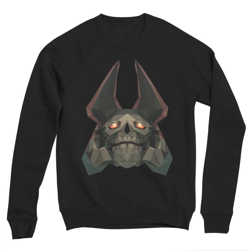 Low Poly Art - Skeleton King Men's Sponge Fleece Sweatshirt by lowpolyart's Artist Shop