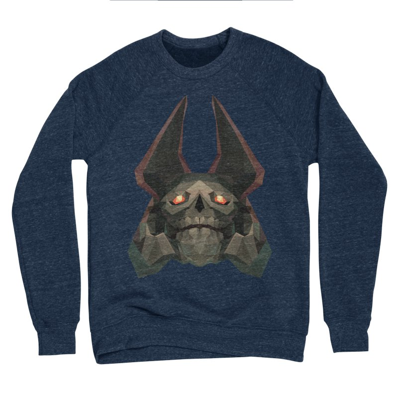 Low Poly Art - Skeleton King Men's Sweatshirt by lowpolyart's Artist Shop