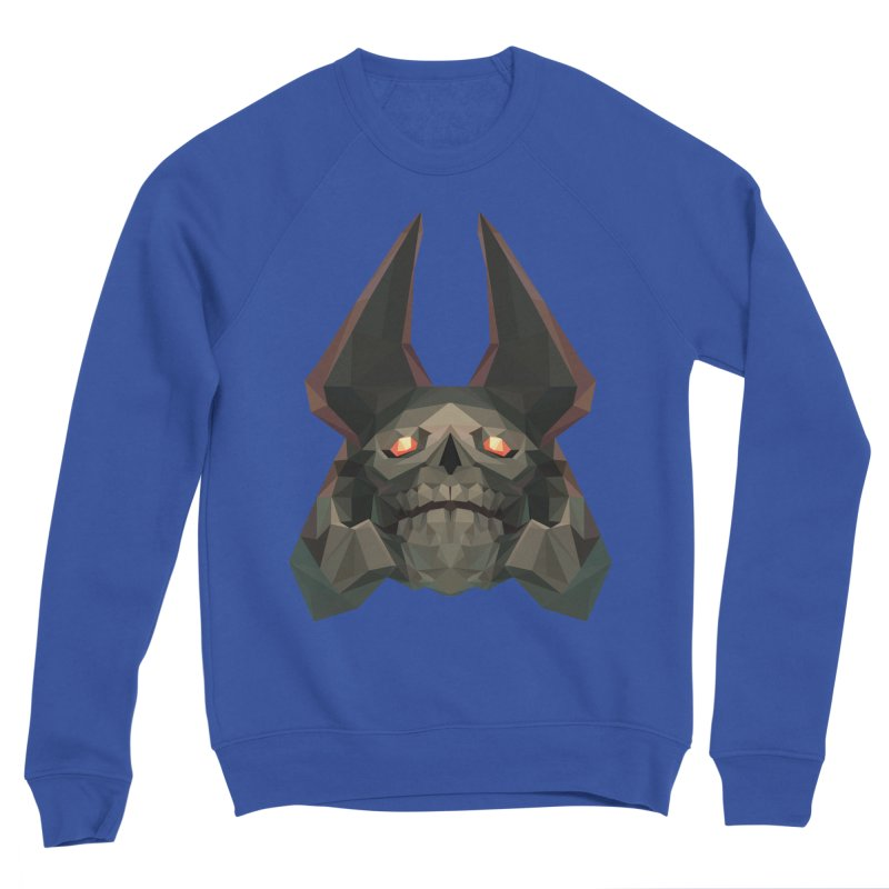 Low Poly Art - Skeleton King Women's Sponge Fleece Sweatshirt by lowpolyart's Artist Shop