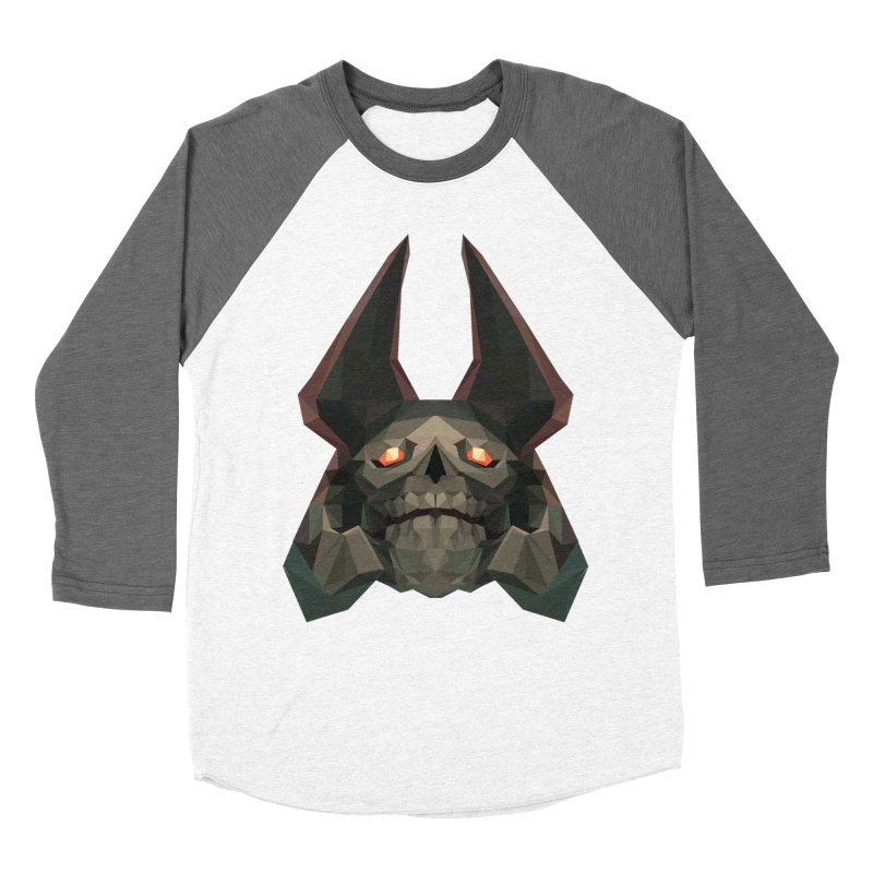 Low Poly Art - Skeleton King Women's Longsleeve T-Shirt by lowpolyart's Artist Shop