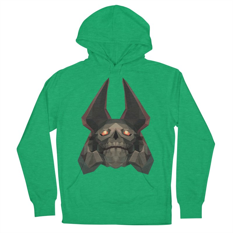Low Poly Art - Skeleton King Women's French Terry Pullover Hoody by lowpolyart's Artist Shop