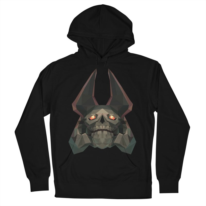 Low Poly Art - Skeleton King Men's French Terry Pullover Hoody by lowpolyart's Artist Shop