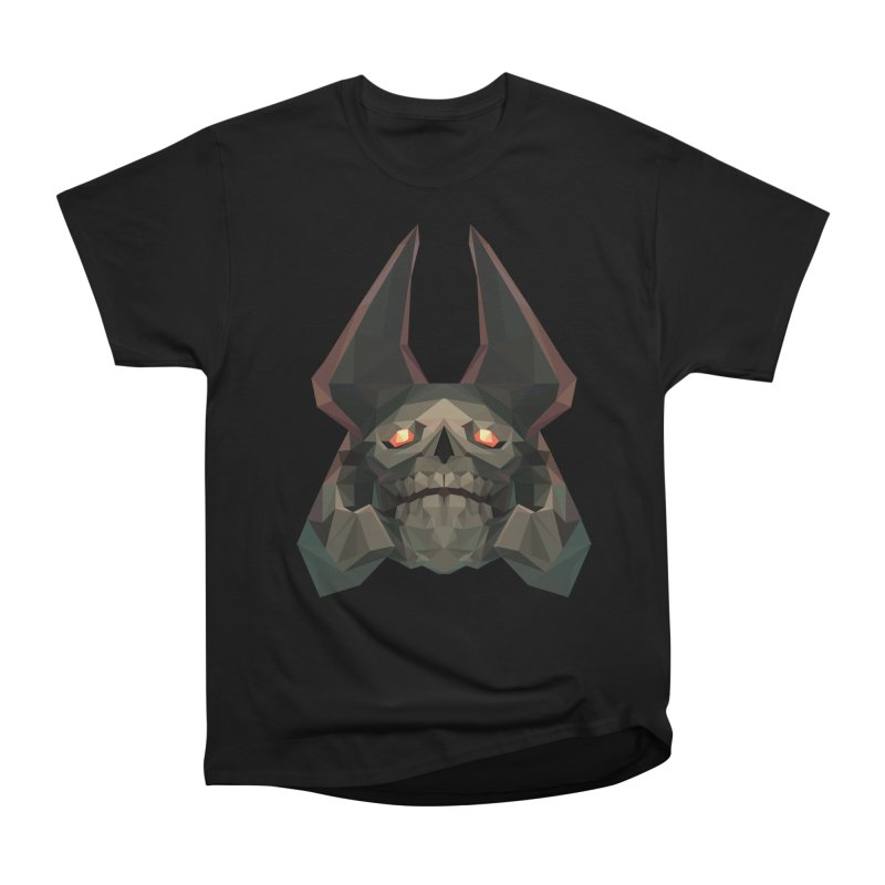 Low Poly Art - Skeleton King Men's Heavyweight T-Shirt by lowpolyart's Artist Shop