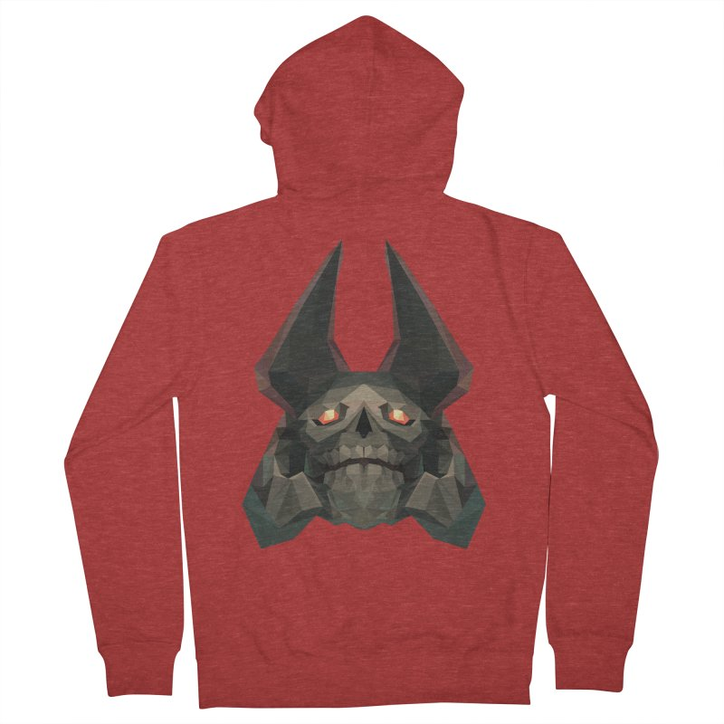 Low Poly Art - Skeleton King Women's French Terry Zip-Up Hoody by lowpolyart's Artist Shop