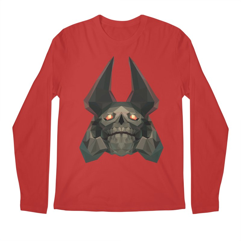 Low Poly Art - Skeleton King Men's Regular Longsleeve T-Shirt by lowpolyart's Artist Shop