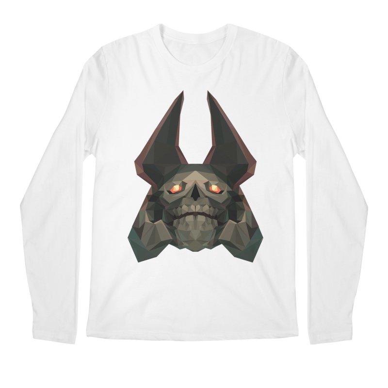 Low Poly Art - Skeleton King Men's Regular Longsleeve T-Shirt by lowpolyart's Artist Shop