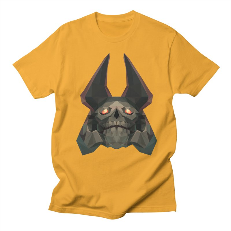 Low Poly Art - Skeleton King Men's Regular T-Shirt by lowpolyart's Artist Shop
