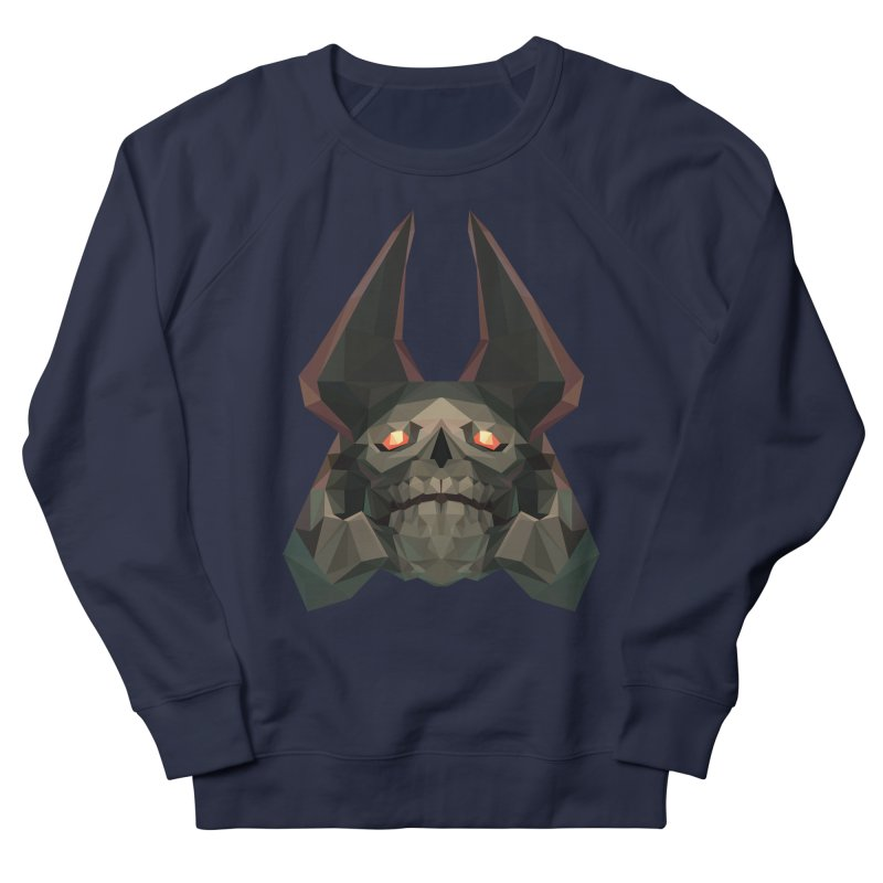 Low Poly Art - Skeleton King Women's French Terry Sweatshirt by lowpolyart's Artist Shop