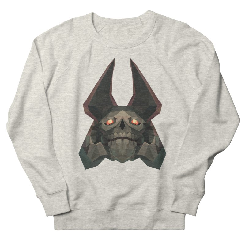 Low Poly Art - Skeleton King Men's French Terry Sweatshirt by lowpolyart's Artist Shop