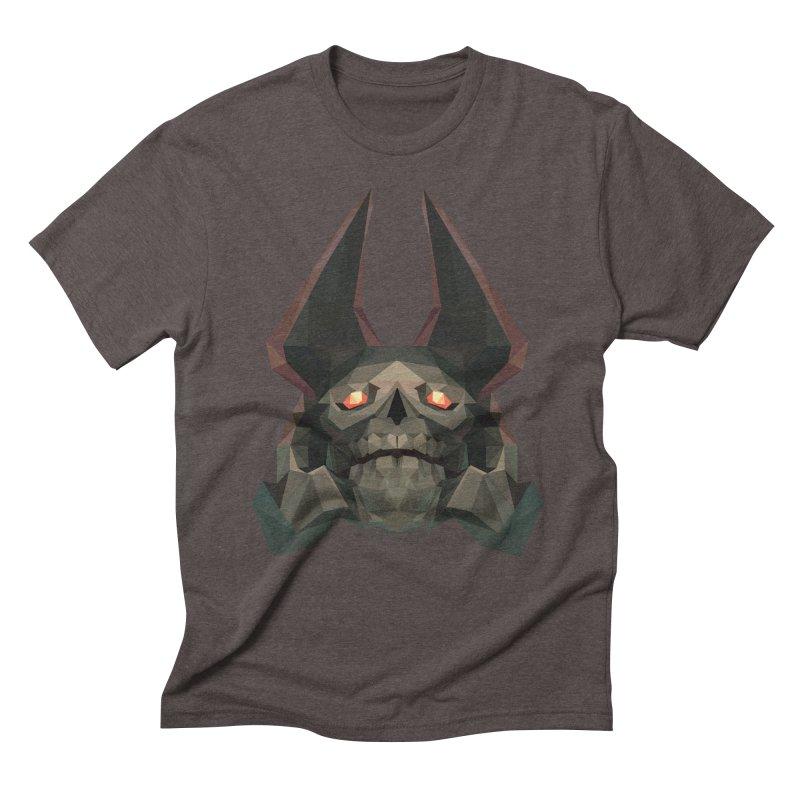 Low Poly Art - Skeleton King Men's Triblend T-Shirt by lowpolyart's Artist Shop