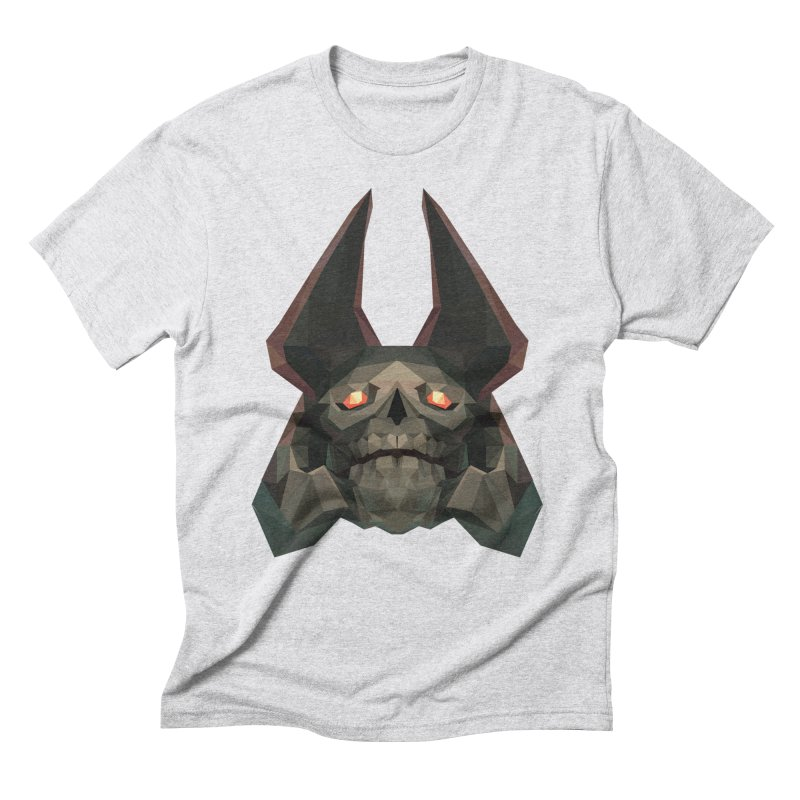 Low Poly Art - Skeleton King Men's Triblend T-Shirt by lowpolyart's Artist Shop