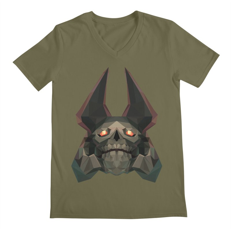 Low Poly Art - Skeleton King Men's Regular V-Neck by lowpolyart's Artist Shop