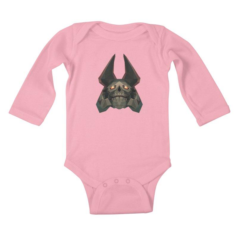 Low Poly Art - Skeleton King Kids Baby Longsleeve Bodysuit by lowpolyart's Artist Shop