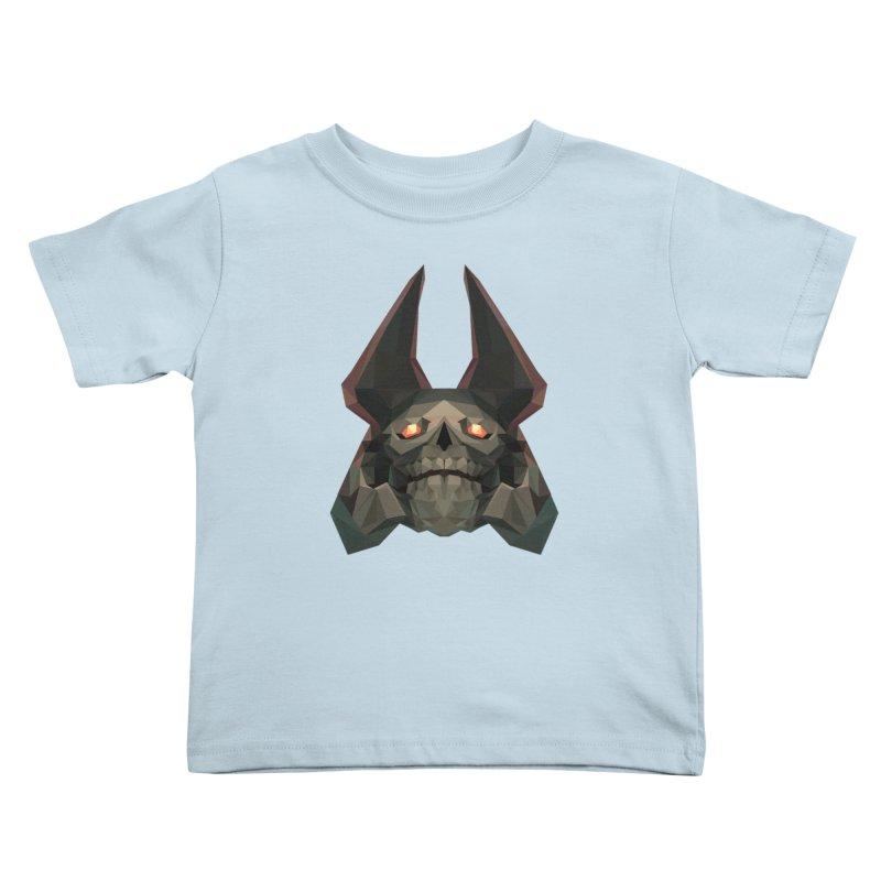 Low Poly Art - Skeleton King Kids Toddler T-Shirt by lowpolyart's Artist Shop