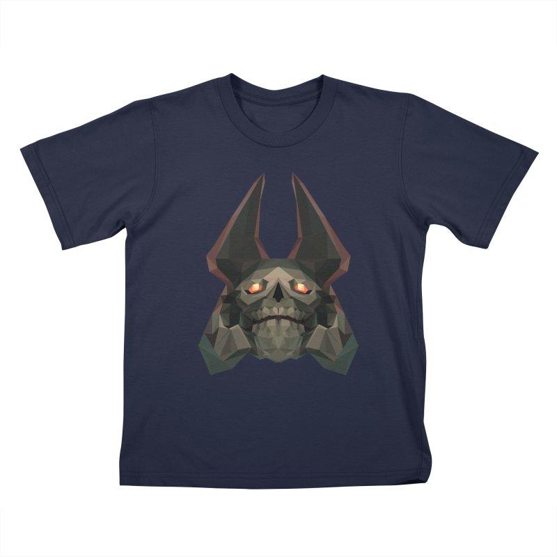 Low Poly Art - Skeleton King Kids T-Shirt by lowpolyart's Artist Shop
