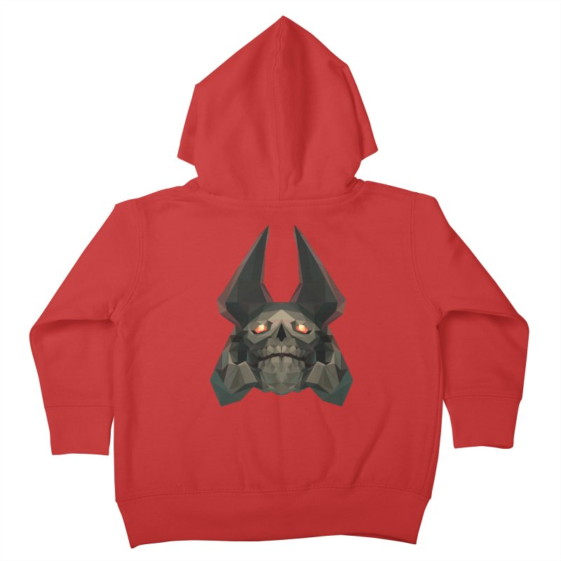Low Poly Art - Skeleton King Kids Toddler Zip-Up Hoody by lowpolyart's Artist Shop