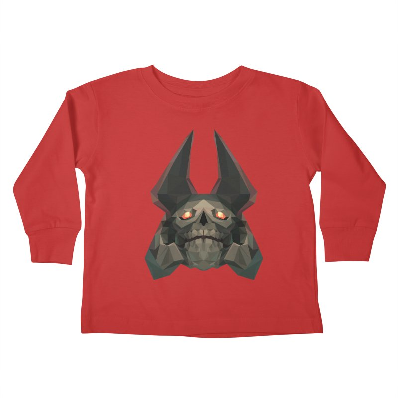 Low Poly Art - Skeleton King Kids Toddler Longsleeve T-Shirt by lowpolyart's Artist Shop