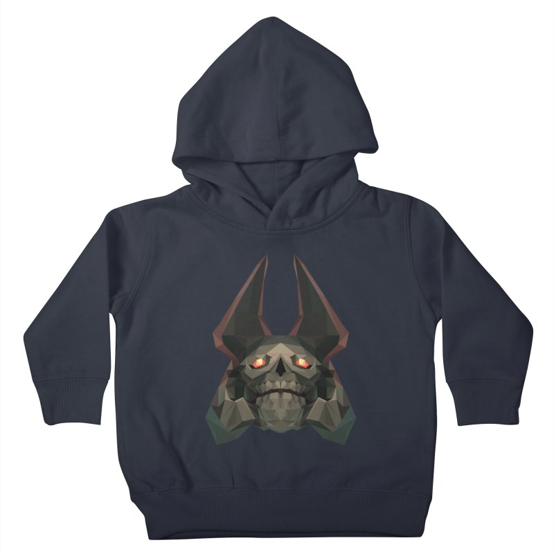Low Poly Art - Skeleton King Kids Toddler Pullover Hoody by lowpolyart's Artist Shop