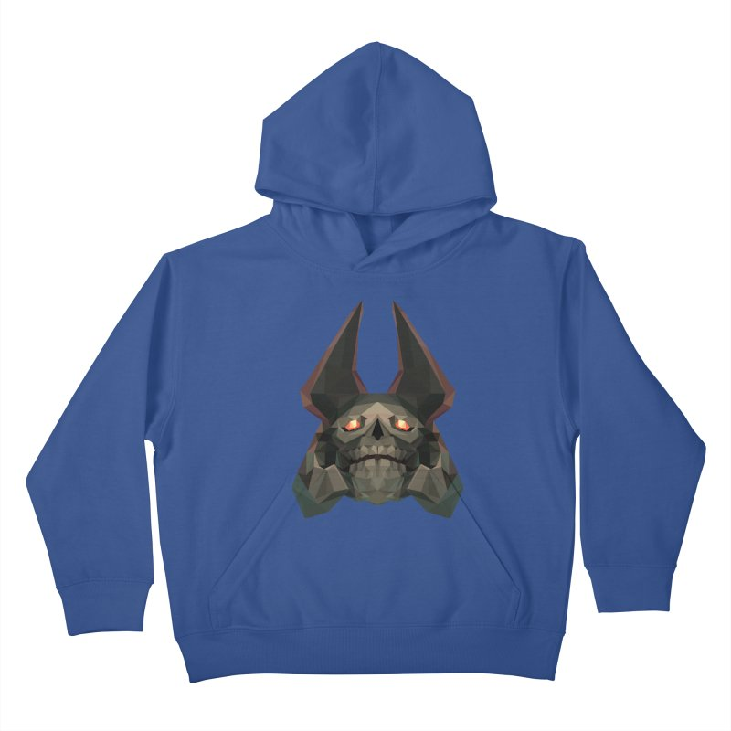 Low Poly Art - Skeleton King Kids Pullover Hoody by lowpolyart's Artist Shop