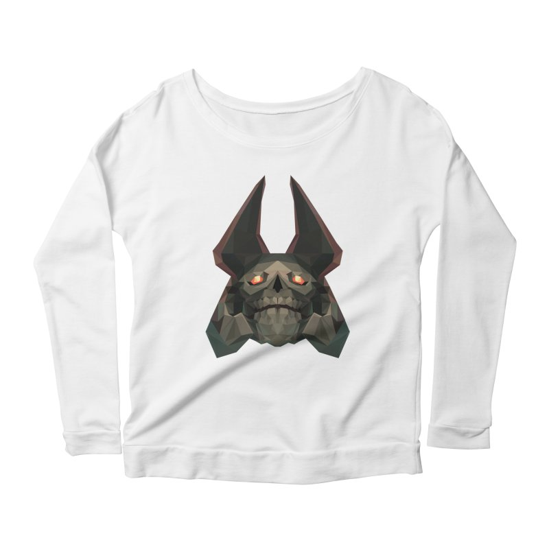Low Poly Art - Skeleton King Women's Scoop Neck Longsleeve T-Shirt by lowpolyart's Artist Shop