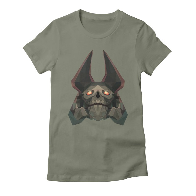 Low Poly Art - Skeleton King Women's Fitted T-Shirt by lowpolyart's Artist Shop