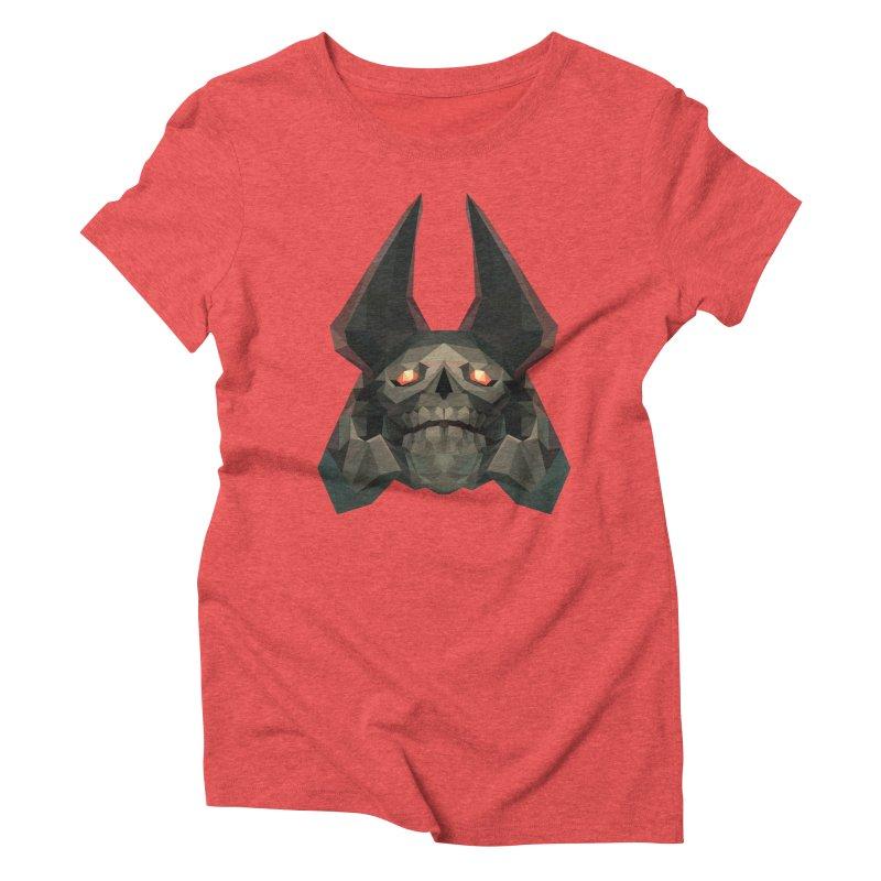 Low Poly Art - Skeleton King Women's Triblend T-Shirt by lowpolyart's Artist Shop
