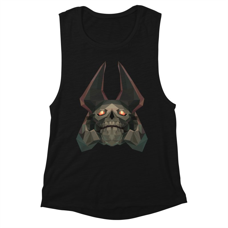 Low Poly Art - Skeleton King Women's Muscle Tank by lowpolyart's Artist Shop
