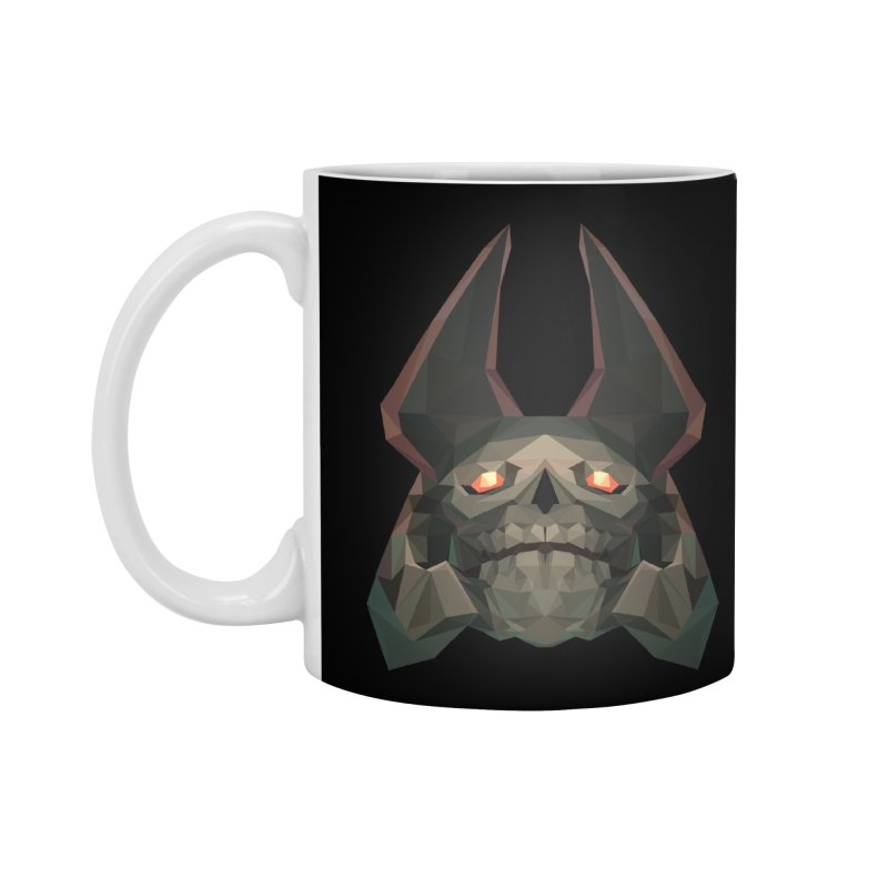 Low Poly Art - Skeleton King Accessories Mug by lowpolyart's Artist Shop