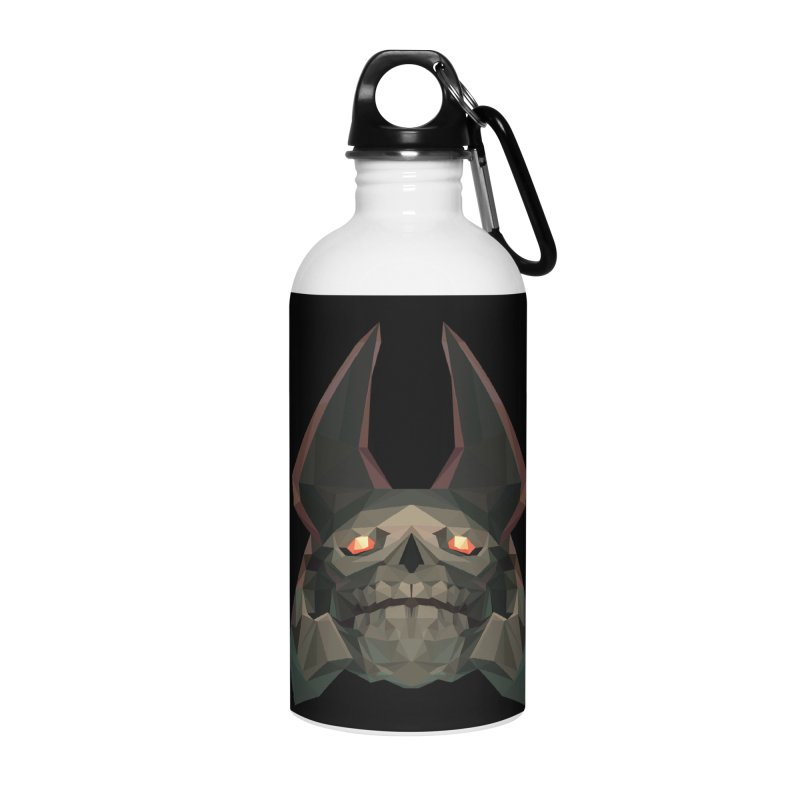 Low Poly Art - Skeleton King Accessories Water Bottle by lowpolyart's Artist Shop
