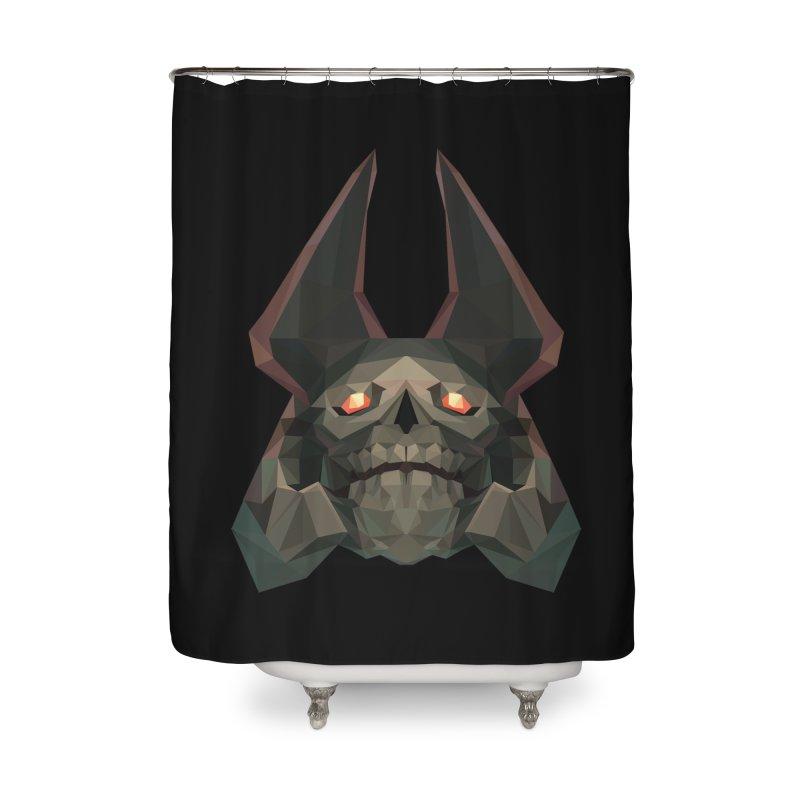 Low Poly Art - Skeleton King Home Shower Curtain by lowpolyart's Artist Shop