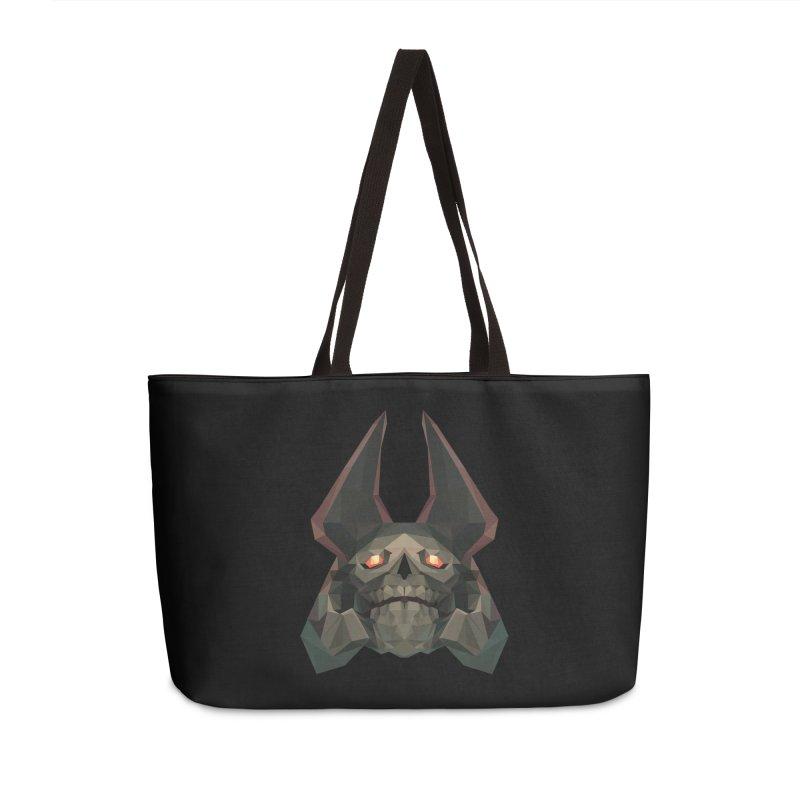 Low Poly Art - Skeleton King Accessories Weekender Bag Bag by lowpolyart's Artist Shop