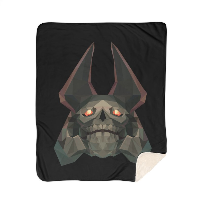 Low Poly Art - Skeleton King Home Sherpa Blanket Blanket by lowpolyart's Artist Shop