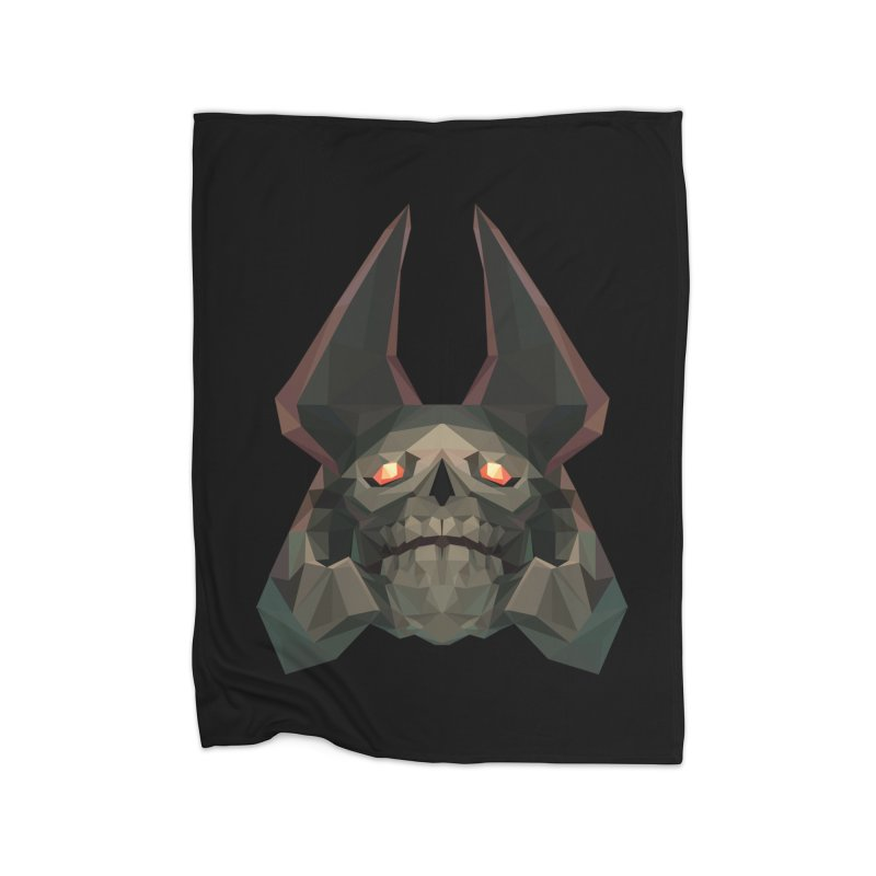 Low Poly Art - Skeleton King Home Blanket by lowpolyart's Artist Shop