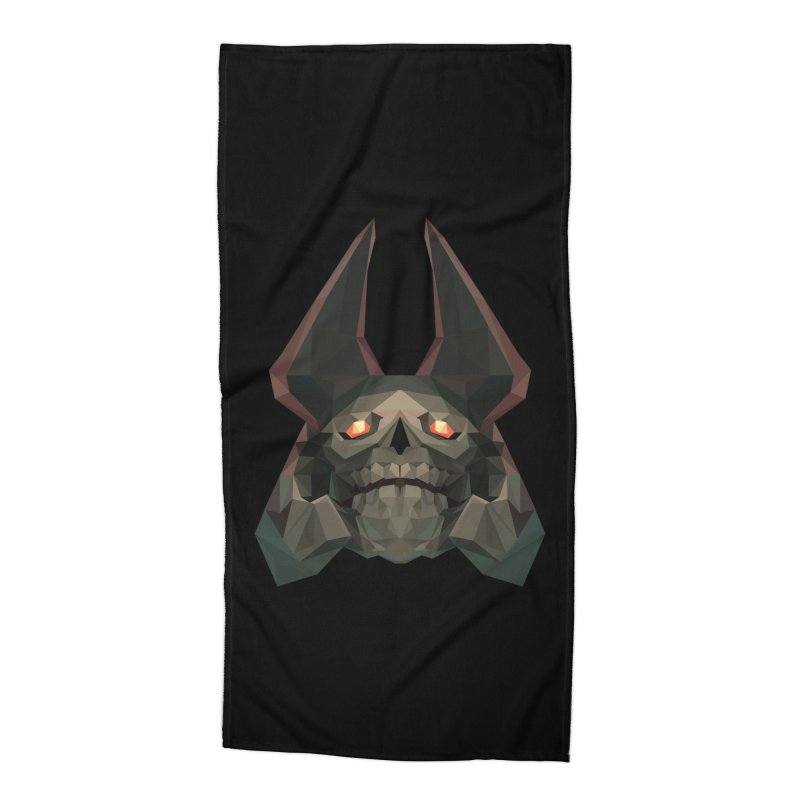 Low Poly Art - Skeleton King Accessories Beach Towel by lowpolyart's Artist Shop