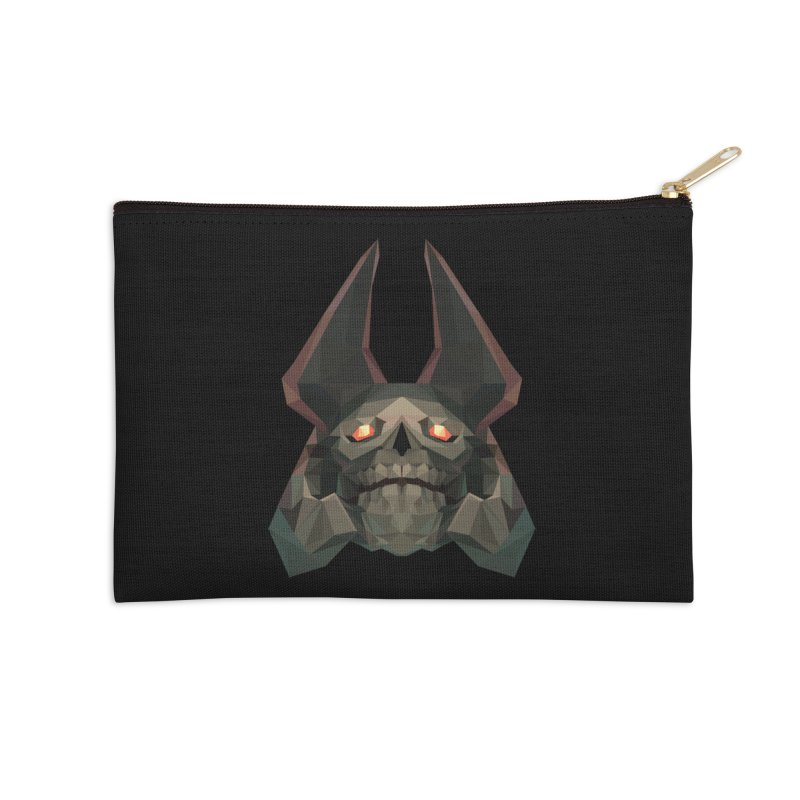 Low Poly Art - Skeleton King Accessories Zip Pouch by lowpolyart's Artist Shop