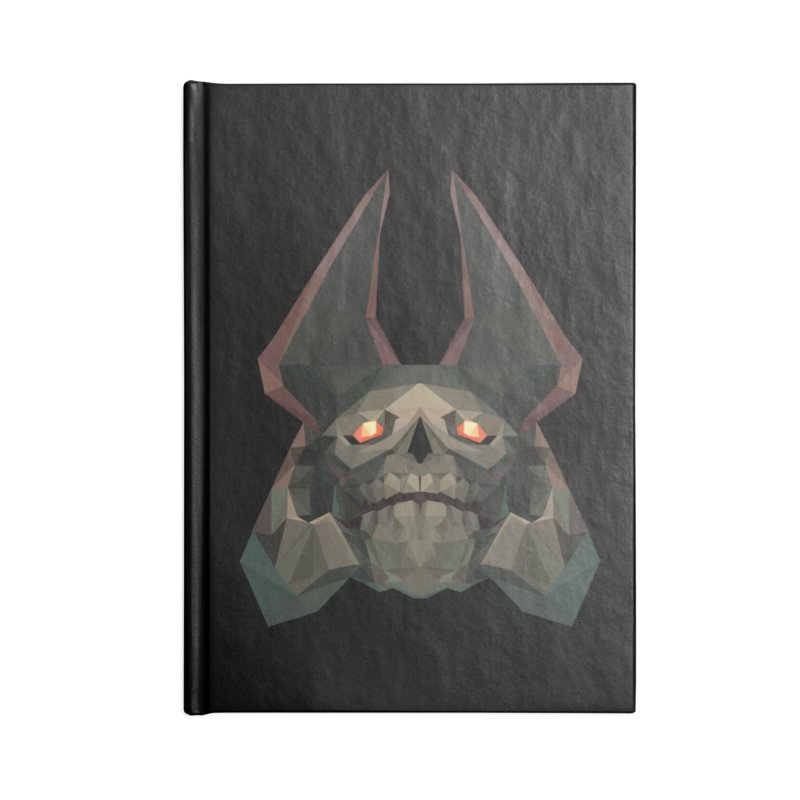 Low Poly Art - Skeleton King Accessories Lined Journal Notebook by lowpolyart's Artist Shop