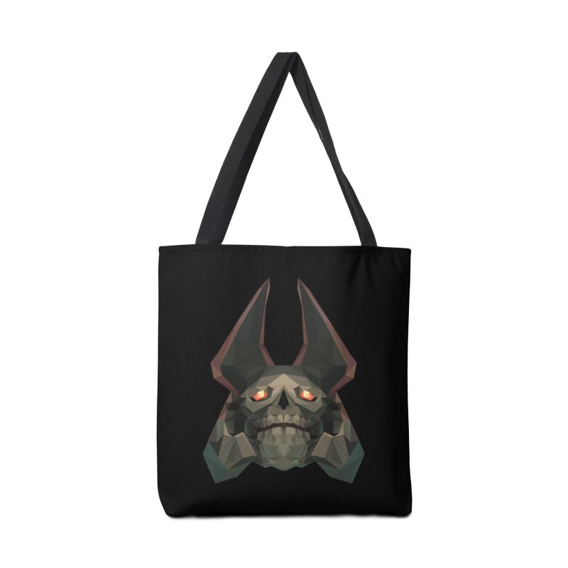 Low Poly Art - Skeleton King Accessories Bag by lowpolyart's Artist Shop