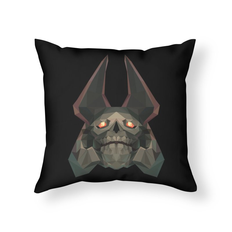 Low Poly Art - Skeleton King Home Throw Pillow by lowpolyart's Artist Shop