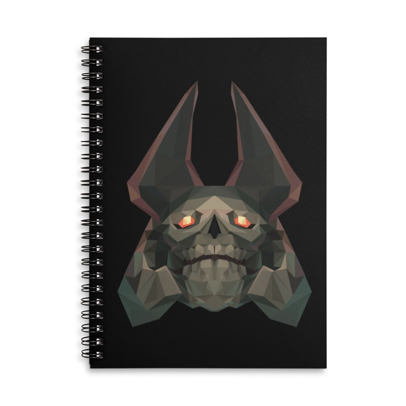 Low Poly Art - Skeleton King Accessories Lined Spiral Notebook by lowpolyart's Artist Shop