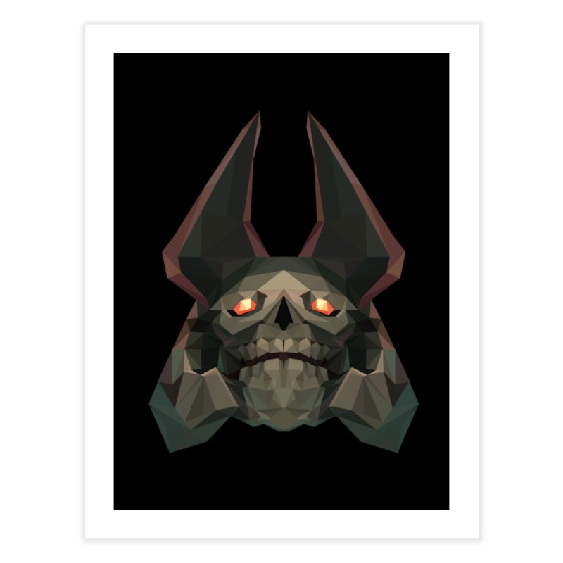 Low Poly Art - Skeleton King Home Fine Art Print by lowpolyart's Artist Shop