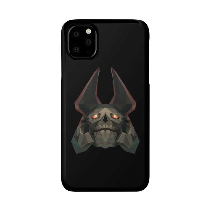 Low Poly Art - Skeleton King Accessories Phone Case by lowpolyart's Artist Shop