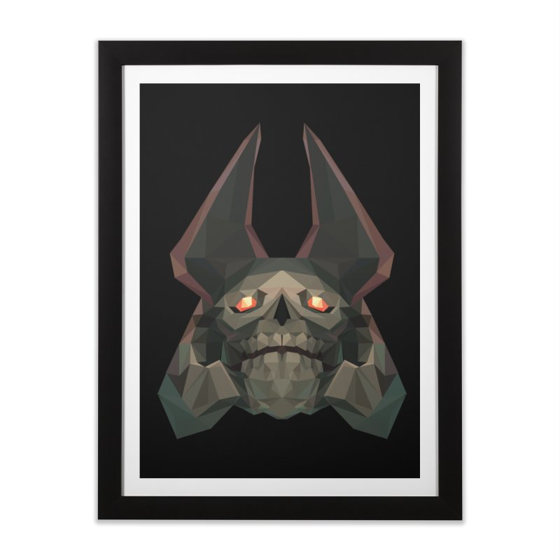 Low Poly Art - Skeleton King Home Framed Fine Art Print by lowpolyart's Artist Shop