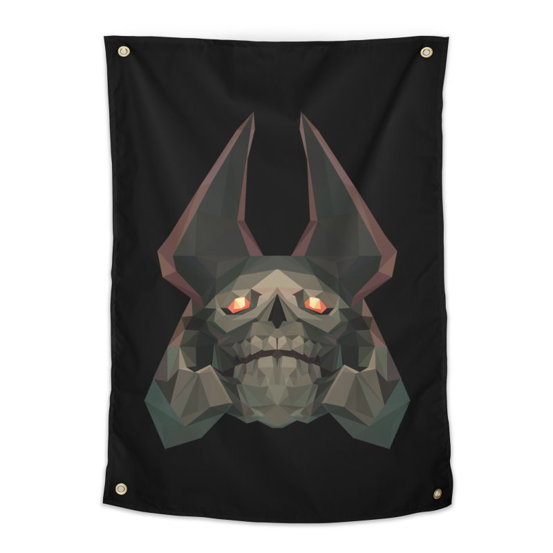 Low Poly Art - Skeleton King Home Tapestry by lowpolyart's Artist Shop
