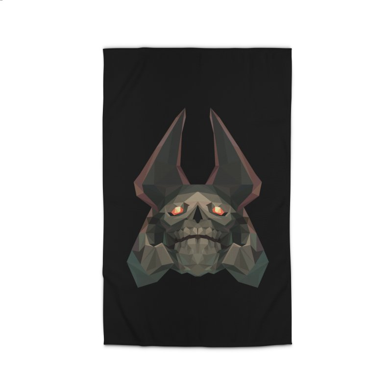Low Poly Art - Skeleton King Home Rug by lowpolyart's Artist Shop