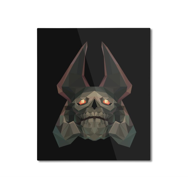 Low Poly Art - Skeleton King Home Mounted Aluminum Print by lowpolyart's Artist Shop