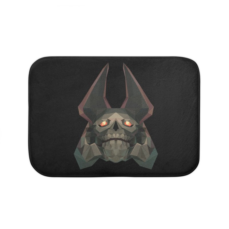 Low Poly Art - Skeleton King Home Bath Mat by lowpolyart's Artist Shop