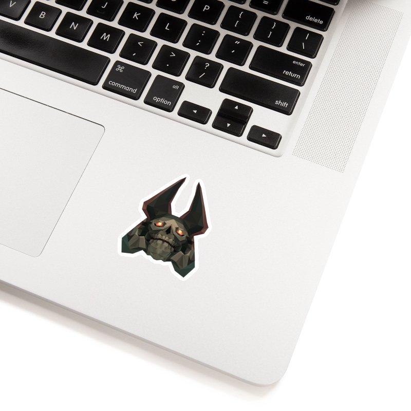 Low Poly Art - Skeleton King Accessories Sticker by lowpolyart's Artist Shop